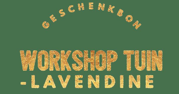 geschenkbon workshop lavendine